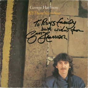 GEORGE HARRISON「All Those Years Ago」サイン