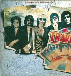 GEORGE HARRISON 「TRAVELING WILBURYS」のLP サイン